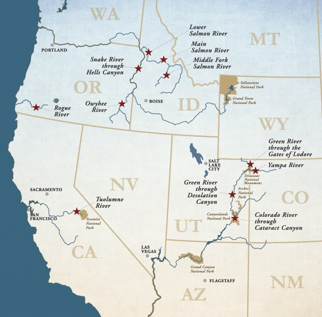 Where to find the best whitewater out West