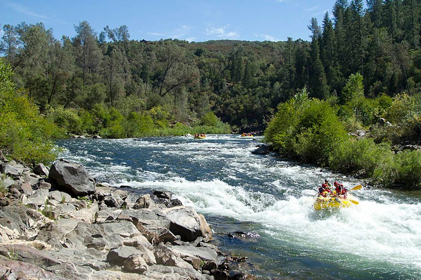 Family Vacation Idea: South Fork American River Rafting | Photo: Justin Bailie
