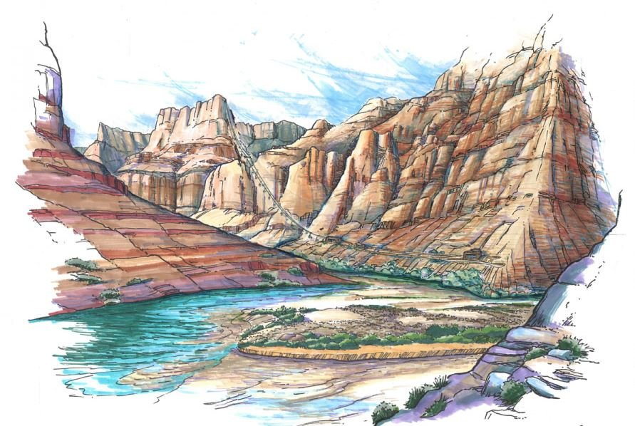 Renewed Threats to the Grand Canyon Loom | Rendering of Proposed Escalade Tramway