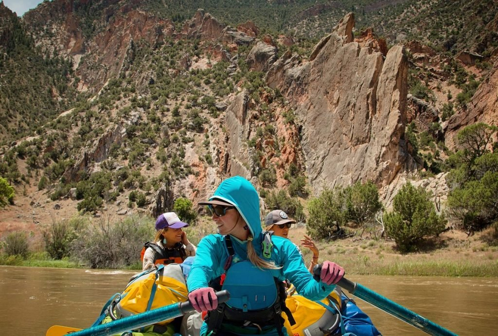 A Boat Full of Women on a Yampa Rafting Trip   Photo: Hilary Oliver