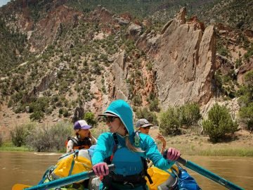A Boat Full of Women on the Yampa River