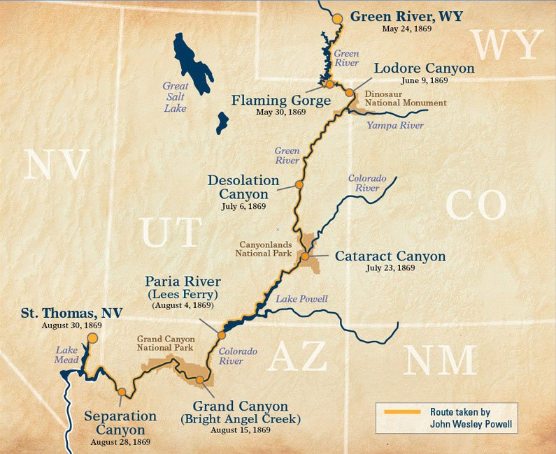 Retracing the John Wesley Powell Expedition of 1869