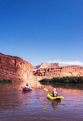 Rafting on the Colorado River in Cataract Canyon