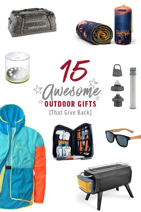 15 Awesome Outdoor Gifts That Give Back
