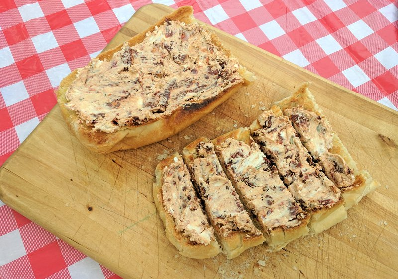 Camping Recipes | Sundried Tomato Pate on French Bread
