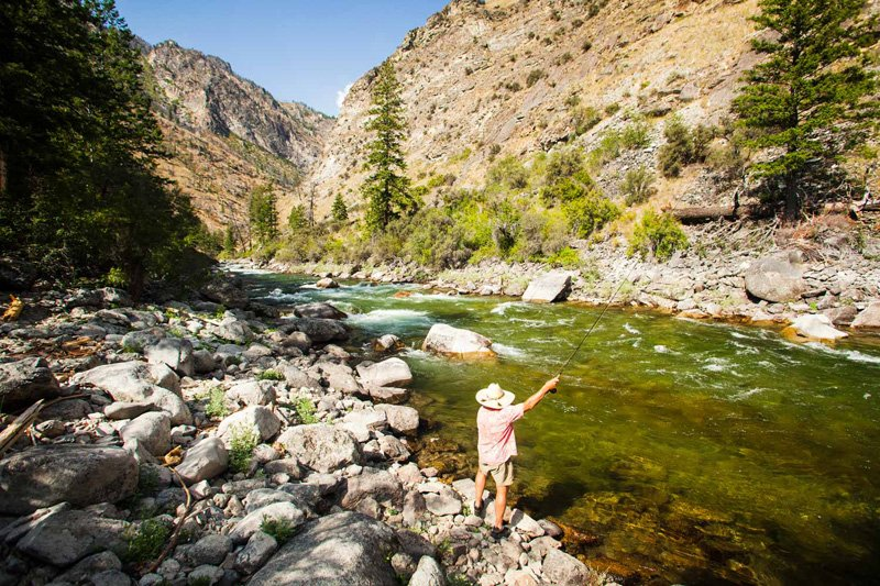 Fly fishing on Idaho's Middle Fork of the Salmon River