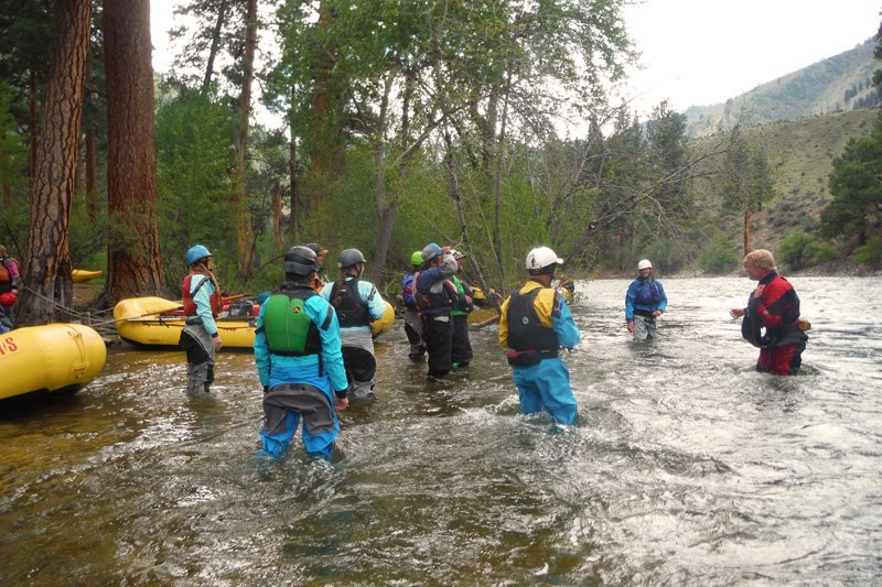 OARS Rafting Guide Training on the Middle Fork of the Salmon River