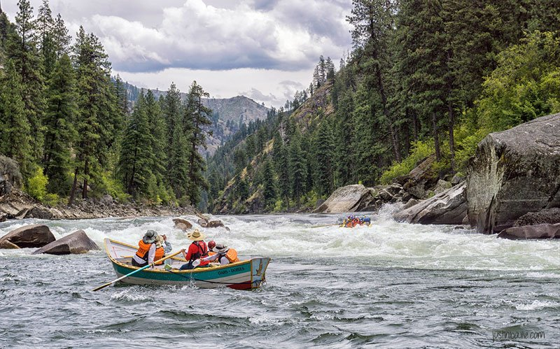 """Rafting the Main Salmon River in the Frank Church """"River of No Return"""" Wilderness"""